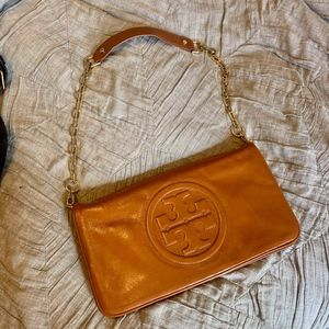 Tory Burch Bombe Reva Clutch with chain